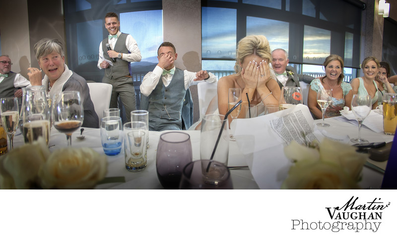 Best wedding speeches photographer North Wales
