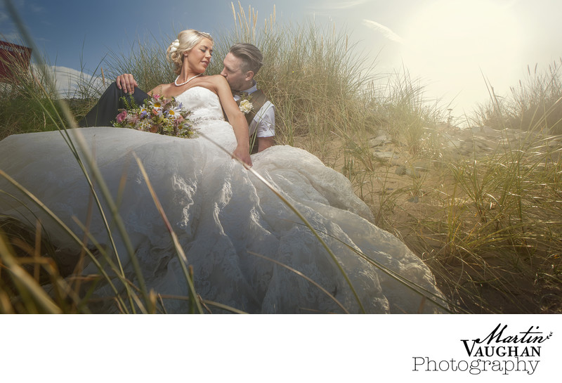 Beach wedding photography conwy north wales