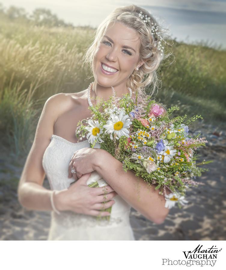 Conwy Bbeach wedding photographs