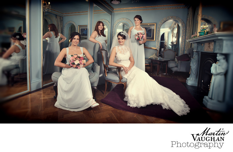 Bridesmaids photography Portmeirion North Wales