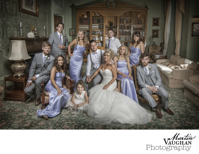 Best bridal party wedding photographs in North wales