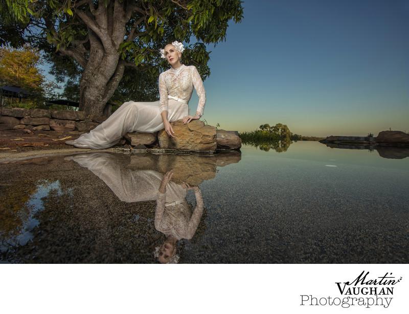 Beautiful mermaid bride Martinvaughanphotography