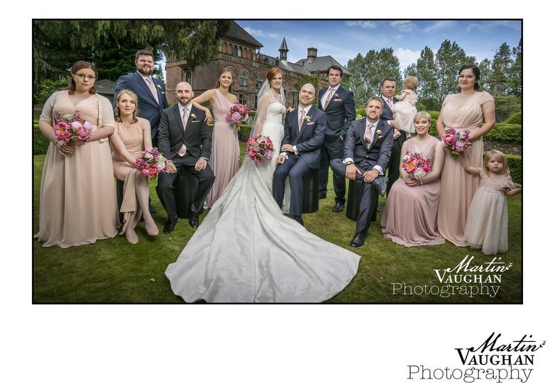 Soughton Hall Wedding photography of Jenny and Tom