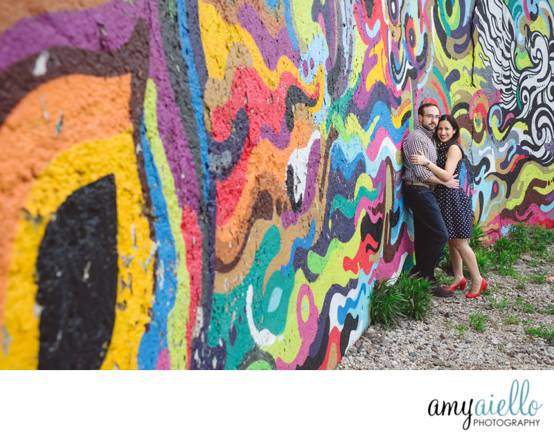 chicago engagement session grafitti street art chicago art institute millnennium park chicago luxury wedding engagement photographer amy aiello photography