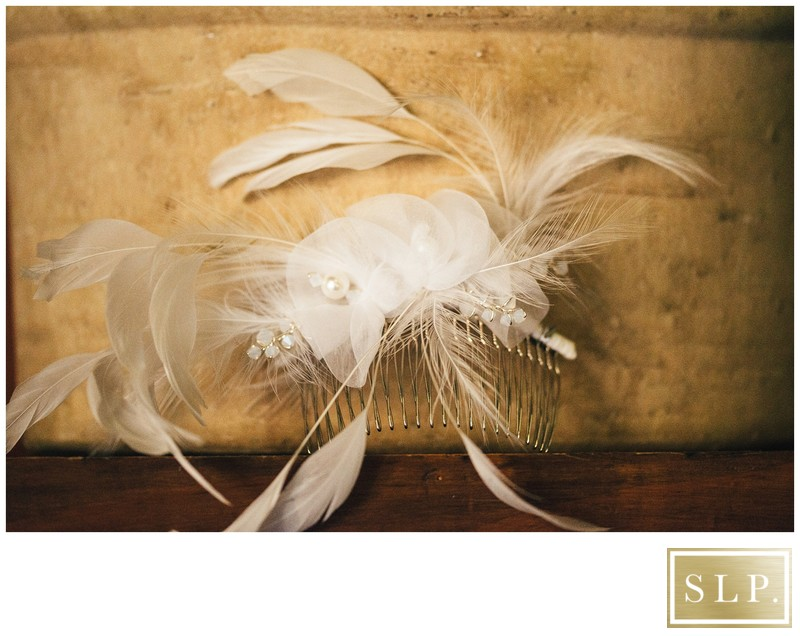 Feathered Bridal Hair Piece