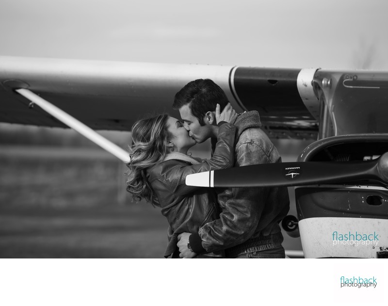 Airport Engagement Photo Ideas