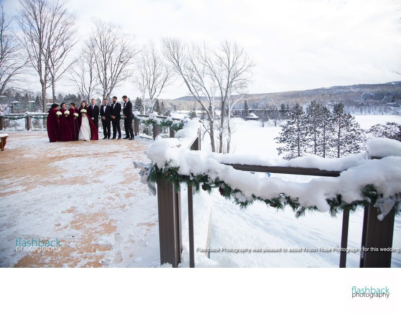 Deerhurst resort Huntsville Winter Wedding Photos