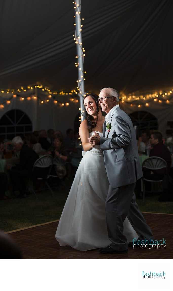 Grandfather Dances with Bride on Wedding Day