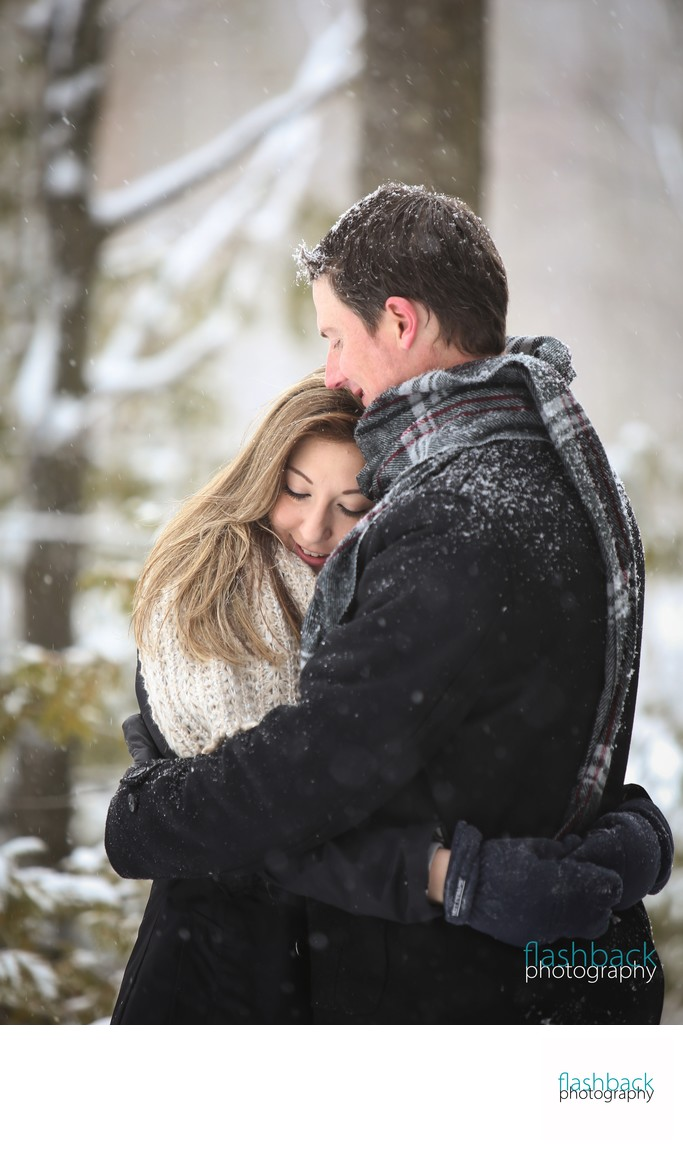 Snowy Tiffin Centre Engagement Photo​ in Winter