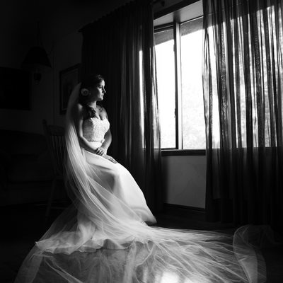 Window-lit Bridal Portrait