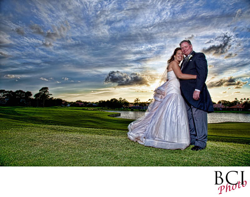 Romantic wedding shot at Willoughby golf club