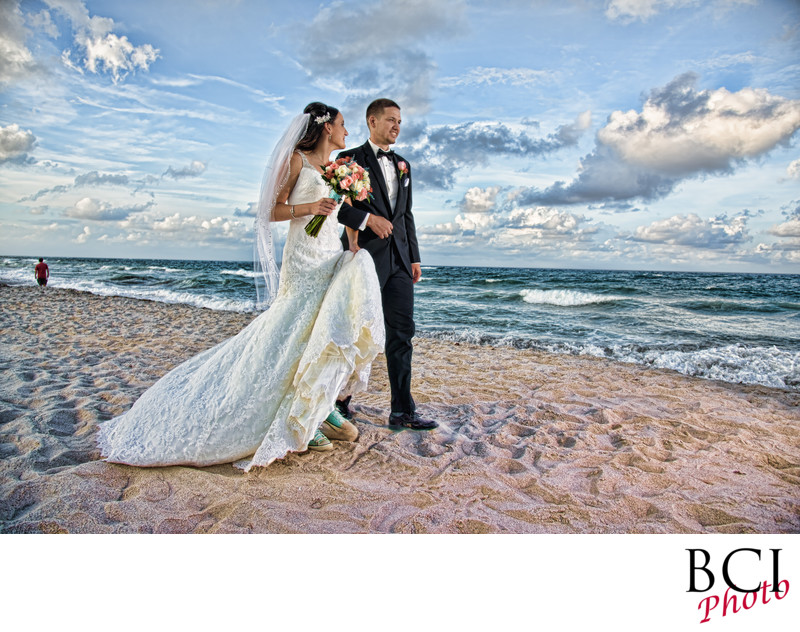 Amazing beach wedding portraits