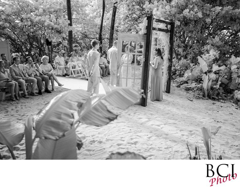 Infrared wedding images that rock