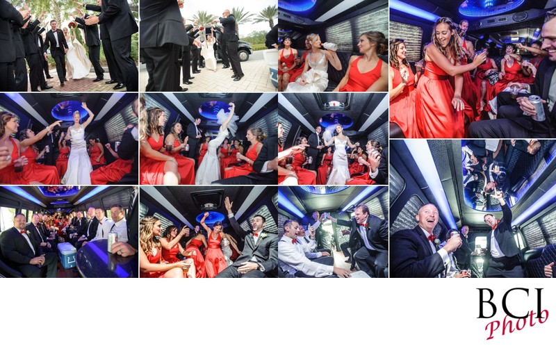 Amazing wedding album designs from the party bus ride