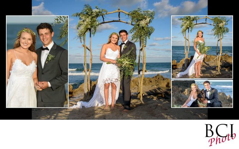 bridal portraits on the beach