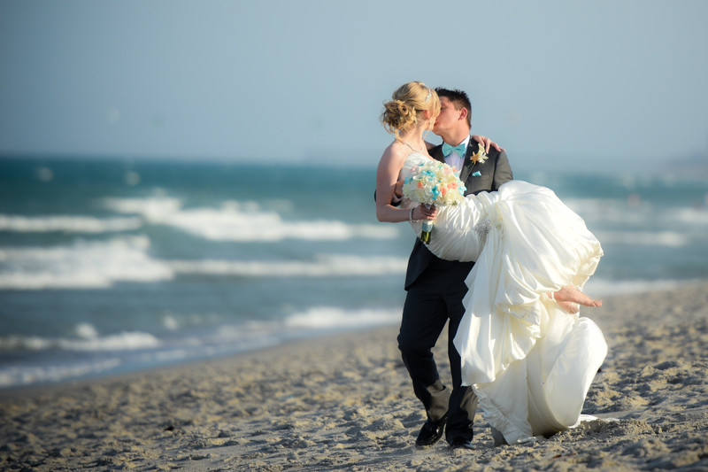 Romantic beach wedding photographers near me