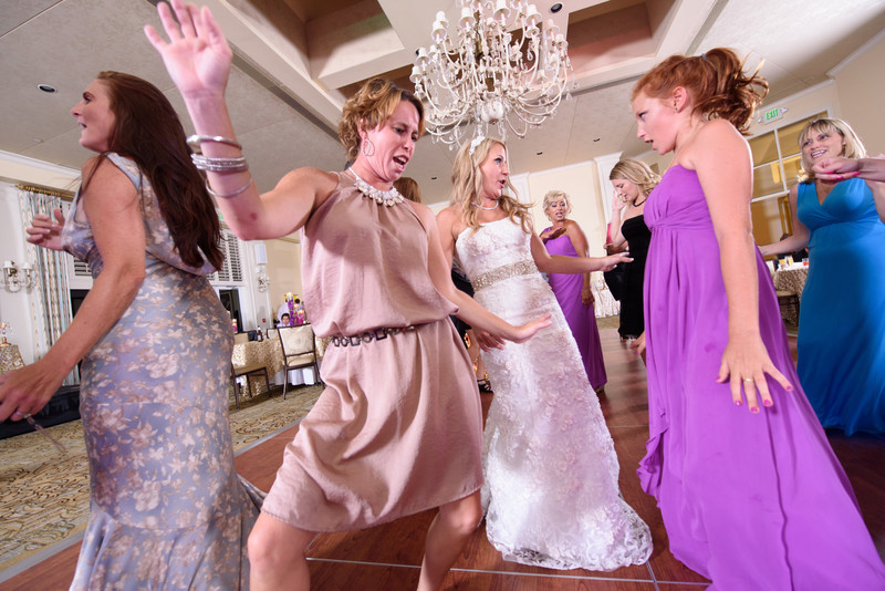 Exciting wedding reception images