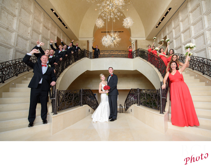 Great Bridal Party shots at the Four Seasons Disney