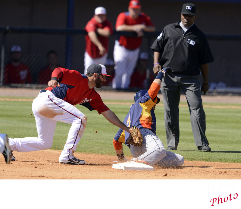 Safe Houston Astros at Washington Nationals
