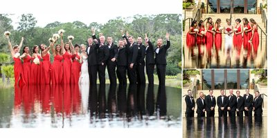 Fun shots with the bridal party @ four seasons disney