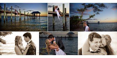 Romantic Wedding Portraits wedding album page design