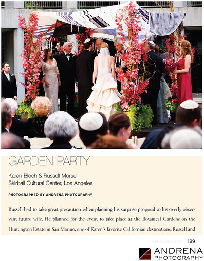 Skirball Jewish Wedding Ceremony Magazine