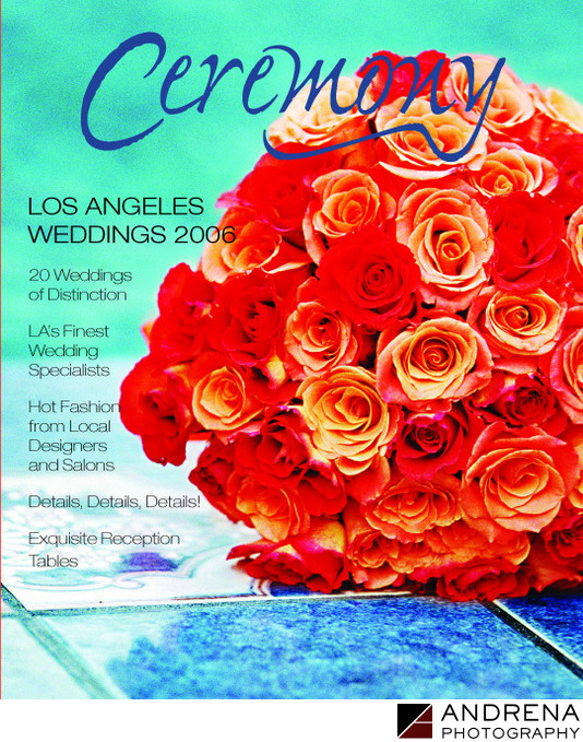 Ceremony Magazine Cover Bouquet Los Angeles