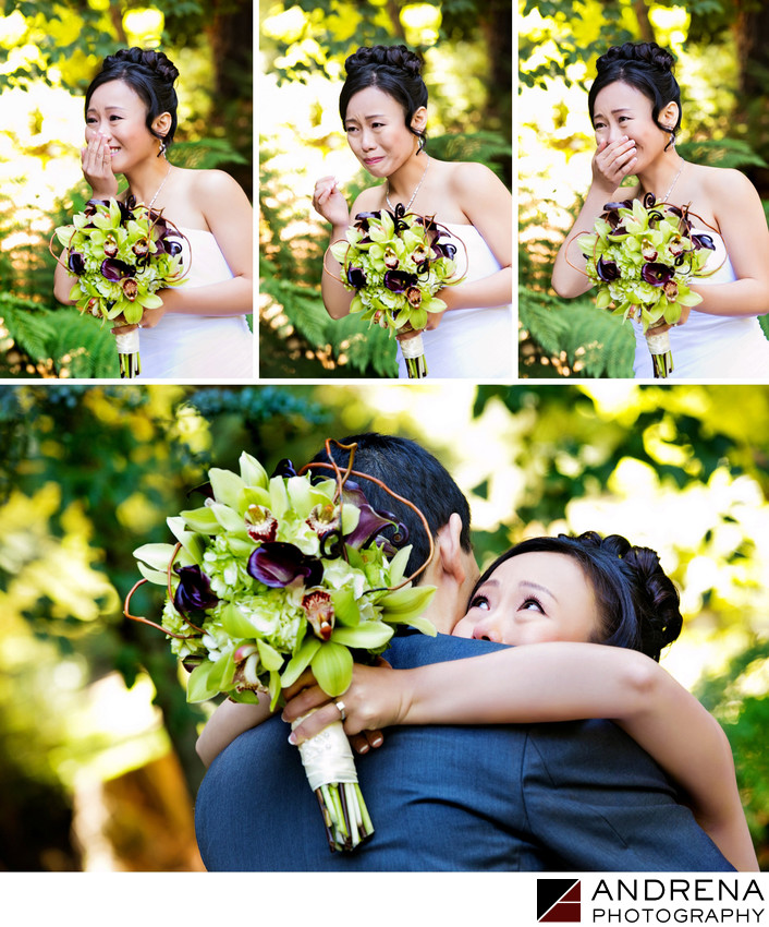 First Look Nestldown Los Gatos Wedding Photographer
