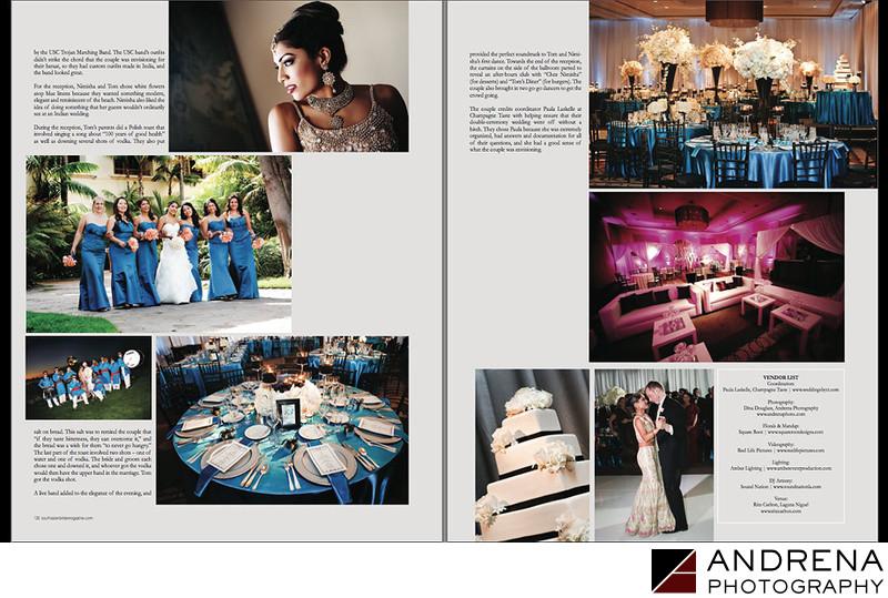 Fusion Catholic Indian Wedding Ritz-Carlton South Asian Bride