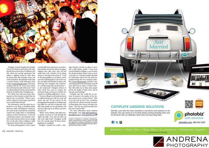 Rangefinder Magazine Wedding Photographer Article