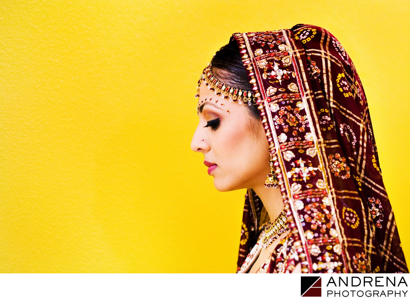 Bride at Ziba Beauty Artesia Indian Wedding Photographer