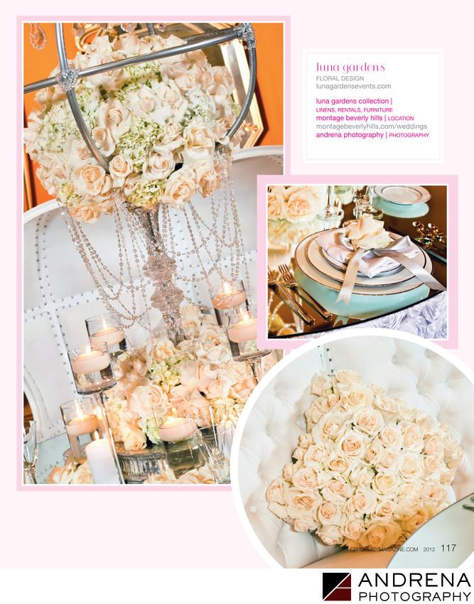Luna Gardens White Florals Ceremony Magazine