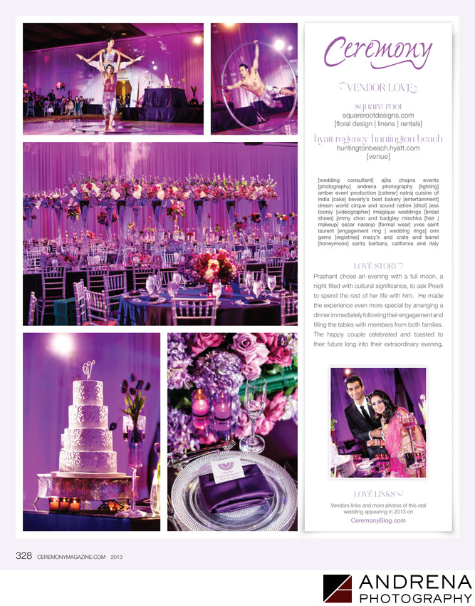 Purple Wedding Decor Square Root Ceremony Magazine