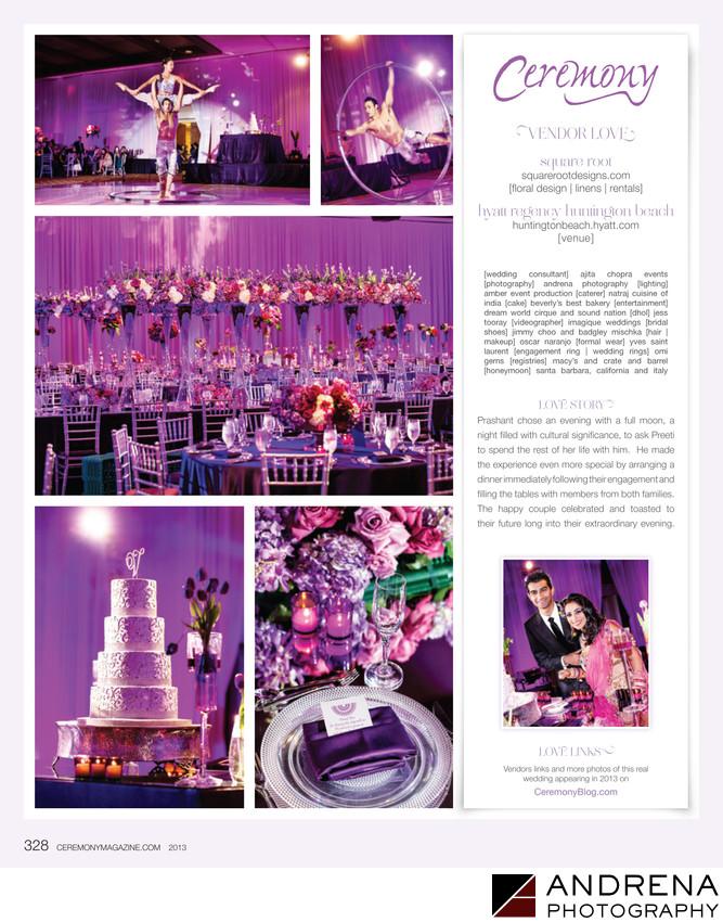 Purple Wedding Decor Square Root Ceremony Magazine