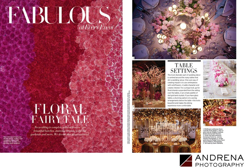 Harper's Bazaar Beautiful Flowers and Mandaps