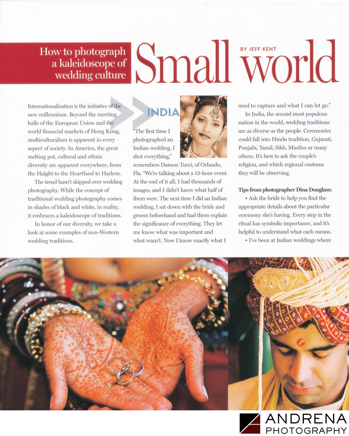Multicultural Wedding Professional Photographer Magazine