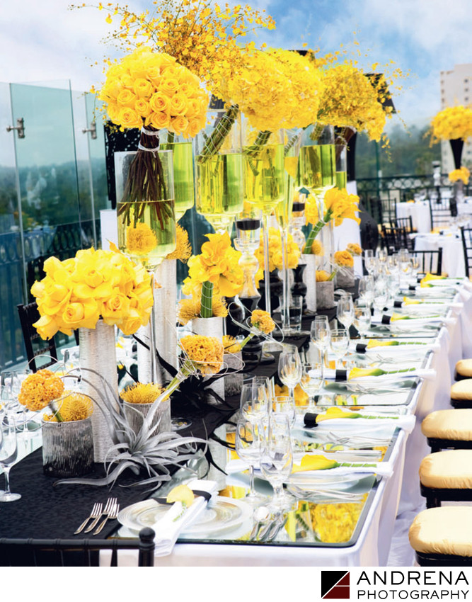 Yellow Reception Flowers Square Root Ceremony Magazine