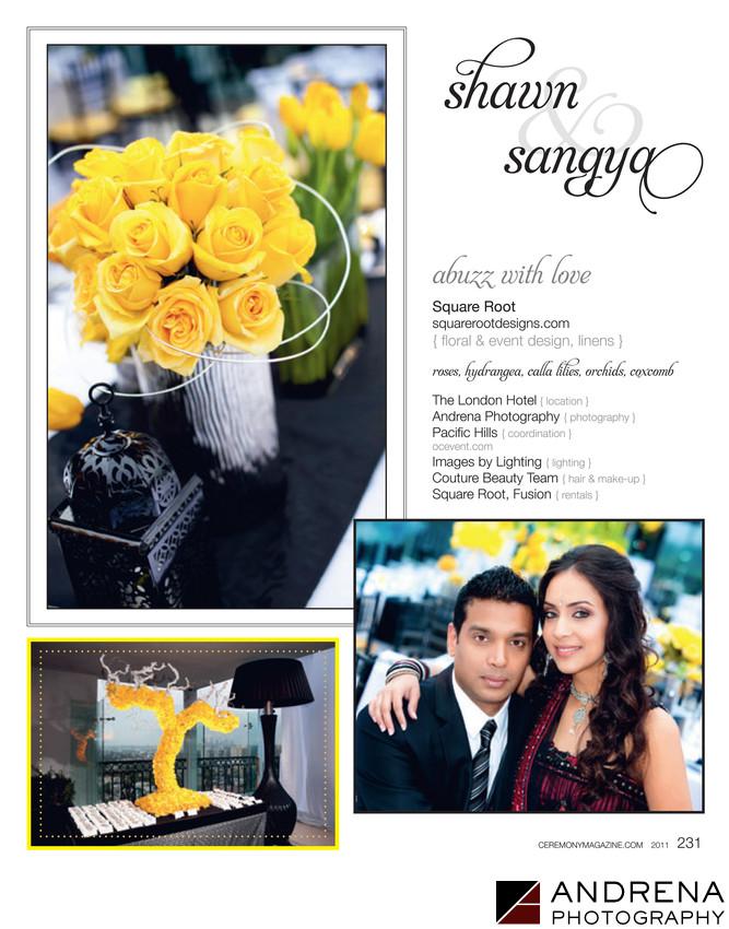 Yellow Wedding Decor Ceremony Magazine