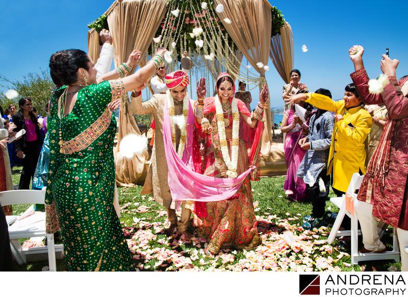 Indian Wedding Photographers Ritz Carlton Laguna Niguel Recessional