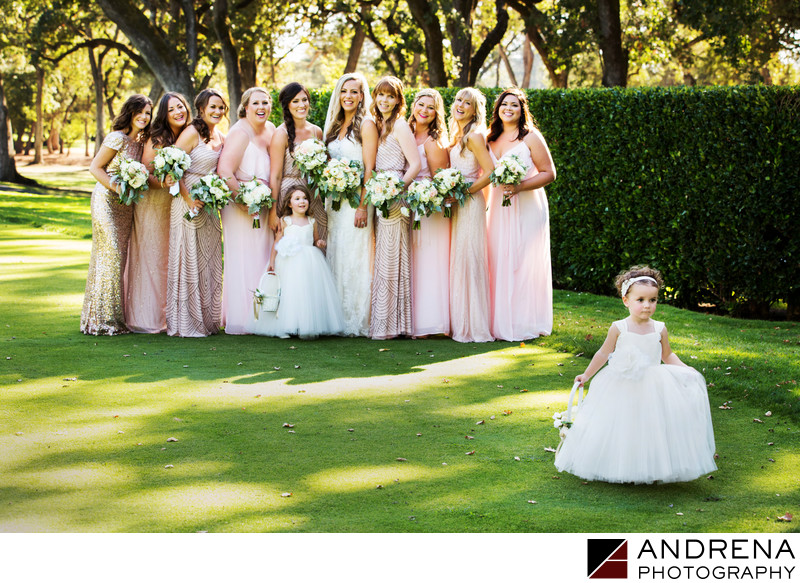 Runaway Flower Girl Napa Valley Wedding Photographer