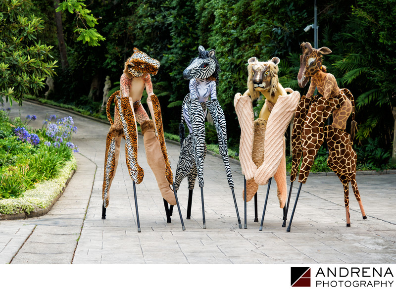 Los Angeles Event Photographers Animal Stilts Walkers