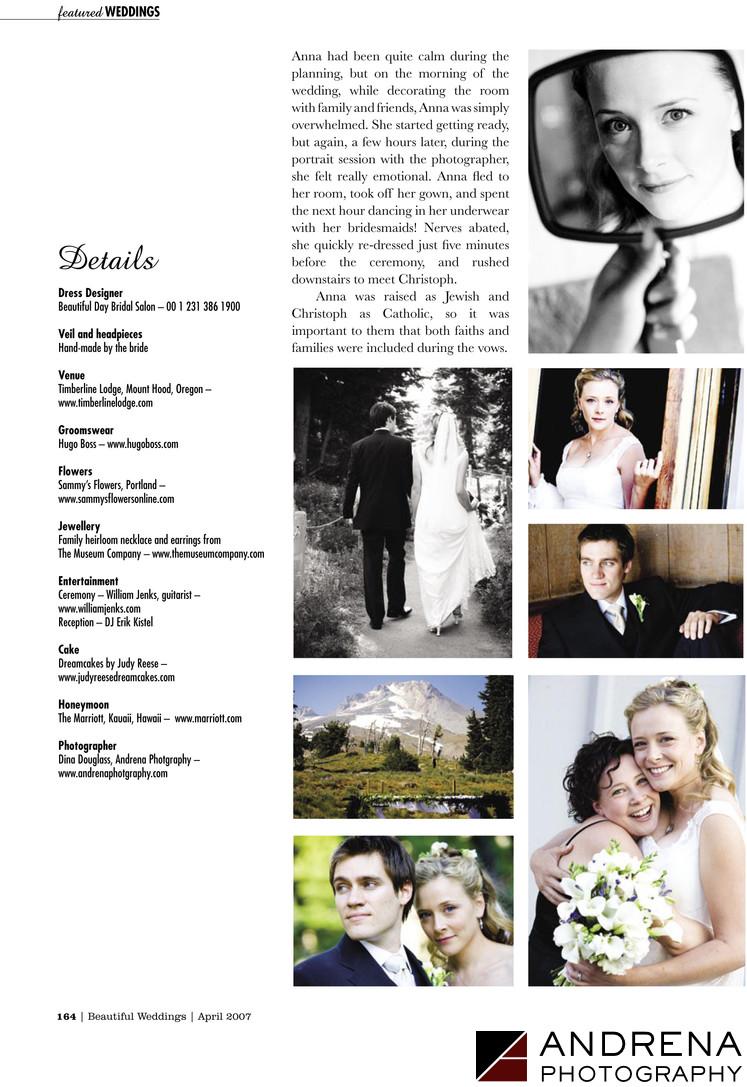 Anna Campbell Wedding Mt. Hood Oregon
