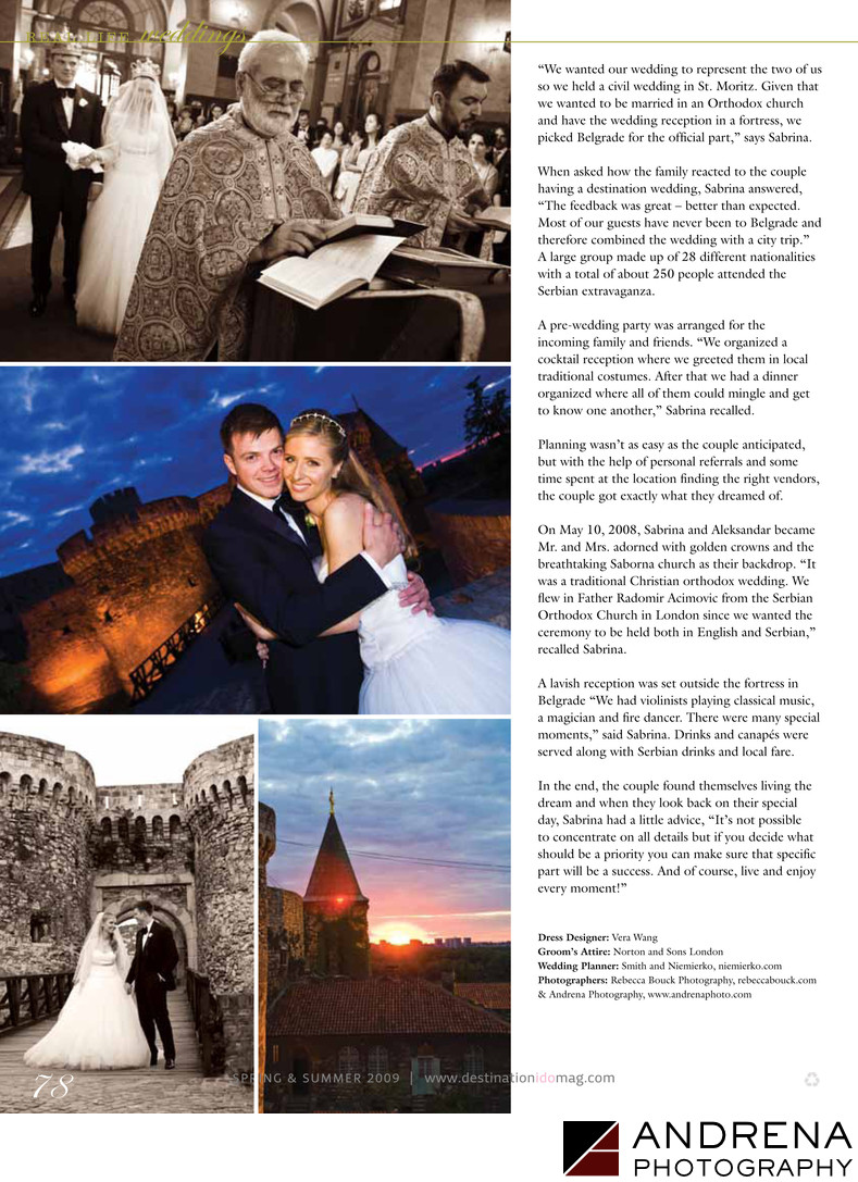 Destination I Do Magazine Wedding in Serbia