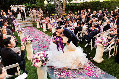 Intercontinental Hotel Wedding Ceremony Los Angeles