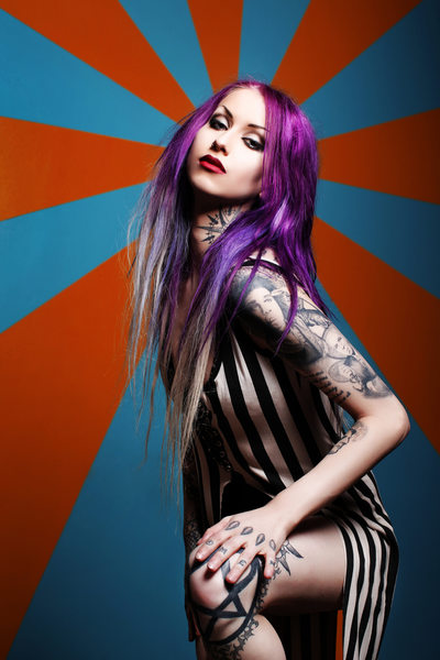 Tattoo Model Photographer Los Angeles Shelly d'Inferno