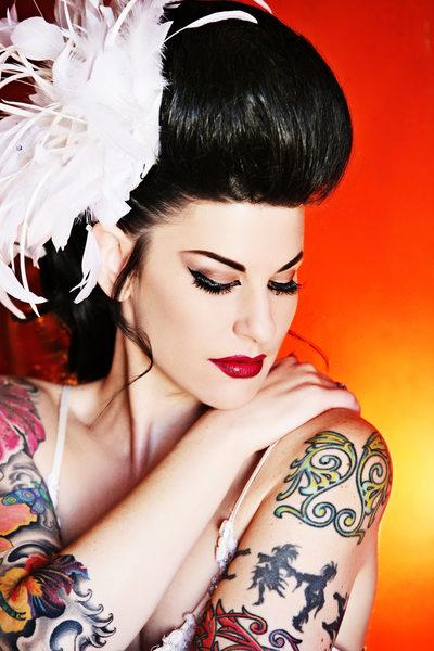 Tattooed Bride Wedding Photographer Hotel Figueroa