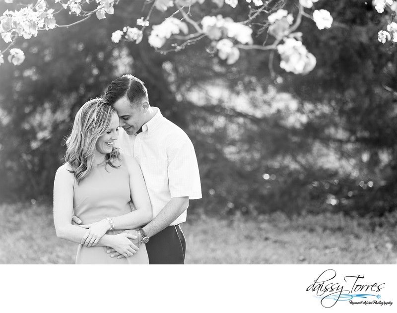 Engagement session at Bayville Farms Park