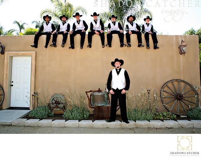Fun Western Themed Wedding Photos in San Diego