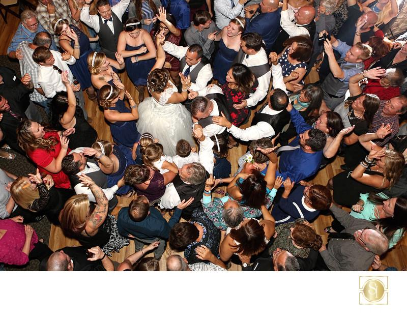 Overhead Wedding Reception Photo Temecula Winery