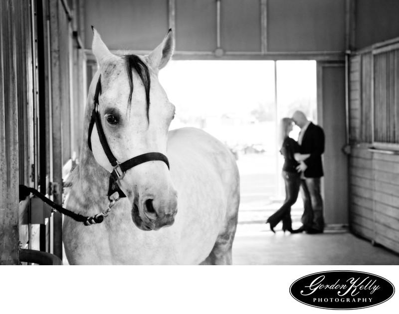 engagement session horse, Hollister  photographer